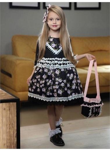 Riccotarz Kız Çocuk Rose Dantel Işlemeli Elbise Renkli